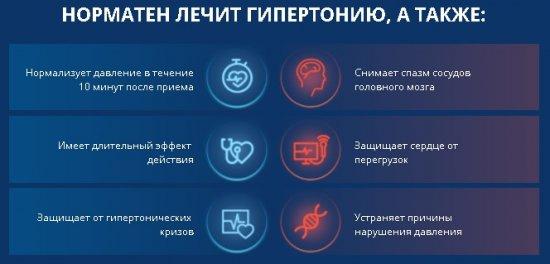 Действие средства Норматен